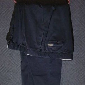 Blue pair of  pleated dress pants